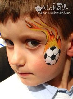 Yes, THAT. That my is what a soccer ball should look like!!! #facepainting