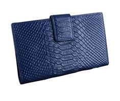 E-Clover Womens Leather Bifold Card Holder Wallet Purse Organizer Case (Navy Blue) >>> See this great image @