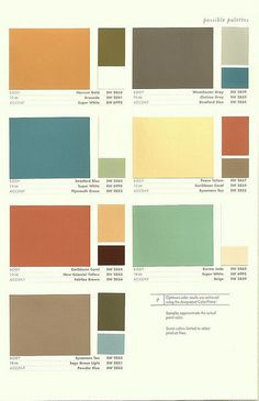 Sherwin Williams Color Preservation Palettes (Retro 1950's Paint Colors) top right corner