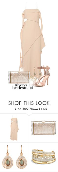 """Always a Bridesmaid"" by amchavesj-1 ❤ liked on Polyvore featuring Jonathan Simkhai, Edie Parker, Irene Neuwirth, David Yurman, Gianvito Rossi and alwaysabridesmaid"