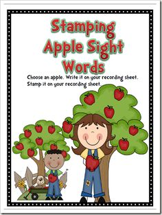 Stamping Apple Sight Words