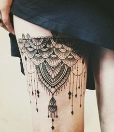Sexy Thigh tattoo designs and ideas for girls (4)