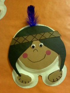 Native American and Pilgrim craft - cute!