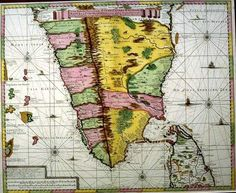 Map of South India.18 c