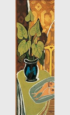 """'Ivy and fish', 1941 - Georges Braque (1882–1963) """