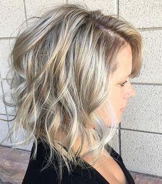 medium blonde balayage hair looks. Short Curly Haircuts, Long Bob Hairstyles, Short Hairstyles For Women, Bob Haircuts, Natural Hairstyles, American Hairstyles, Layered Haircuts, Latest Hairstyles, Easy Hair Cuts