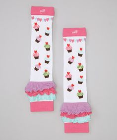 Take a look at this Cupcake Heart Leg Warmers by Ooh La Leggies on #zulily today!