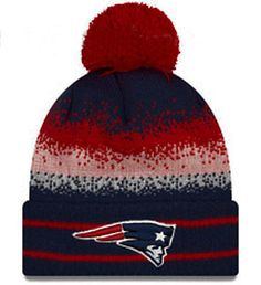 1 New Era New England Patriots Cuffed Spec Blend Sport Knit Pom Beanie Hat  Patriots Team 2b2a81702