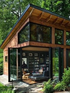 Writer's studio in Virginia by Harrison Design Tiny House Cabin, Tiny House Living, Tiny House Design, Cozy House, Harrison Design, Home Office Space, Office Spaces, Style At Home, Home Fashion