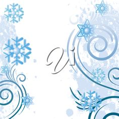 iCLIPART - Clip Art Illustration of a Winter Background with Snowflakes #winter #clipart #illustration
