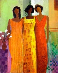The bond & unity of friends add brightness & beauty to Life... Artwork by Keith Mallett