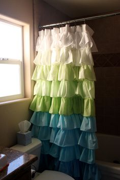 Waterfall curtains - diff colors