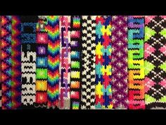 Tight Knit Bracelet Design on the RainbowLoom. Wow, the bracelets are really tight knit and thick. Reminds me if the thread friendship bracelets. Oh, the possibilities. I like the third one from the right the most.