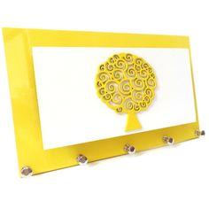 Porta Chaves Árvore Amarelo