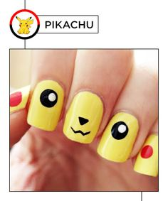 Here's how to display your top Pokémon in manicure form -- just don't chip your thumbnail swiping Pokeballs