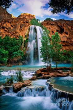 Havasu Cascades Photograph by Inge Johnsson