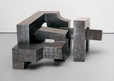Eduardo Chillida, Three Irons, Steel, 22 x 38 x 42 inches x x cm); kg) guggenheim Abstract Sculpture, Sculpture Art, Museums In Nyc, Spanish Art, Action Painting, Concrete Art, Museum Collection, Art Google, Art Boards