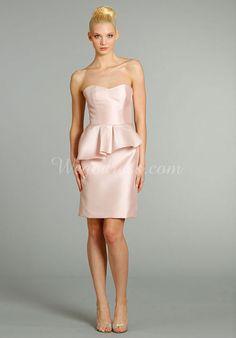 sheath/column Sweetheart Short Length Sleeveless Taffeta Bridesmaid Dresses with Pleats - Wegodress.com