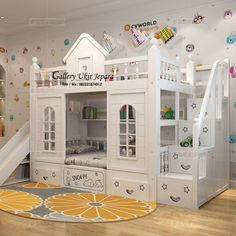 ranjang tidur anak tingkat duco model terbaru 2018 Bunk Beds For Girls Room, Bunk Bed Rooms, Cool Kids Bedrooms, Bunk Beds With Stairs, Awesome Bedrooms, Kid Beds, Girls Bedroom, Cool Beds For Kids, Bunk Bed Designs