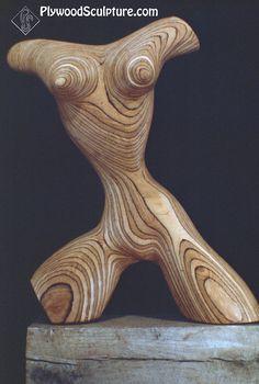 Plywood Sculpture…Torso….1970's    #wood art