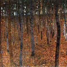 Beech Forest 1902, Gustav Klimt. This painting always generates feelings of warmth and calm for me.