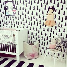 3 Sprouts swan hamper in this little baby girl's room.....Lucky girl!!!