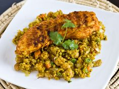 Curried Quinoa with Chickpeas & Almonds