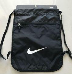 Nike Swoosh Drawstring Sports Training Fit Gym Yoga Sack Backpack Bag Black NWT  #Nike #Backpack