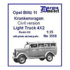 Opel Blitz 1t Krankenwagen Civil version 1/35