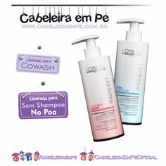Composição Cleansing Conditioners - L'Oréal Professionnel - Liberados para No Poo e Cowash Loreal Professionnel, Cleansing Conditioner, Hair Hacks, Hair Tips, Clear Skin, My Hair, Curly Hair Styles, Hair Care, Hair Makeup