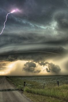 A Supercell Thunderstorm over Glasgow,MT July 28th 2010 by Sean R. Heavey