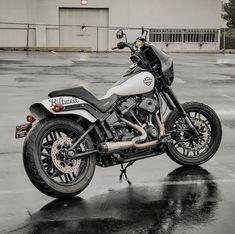 Custom 2018 Harley-Davidson Fat Bob by Rusty Butcher Harley Dyna, Harley Bobber, Bobber Motorcycle, Bobber Chopper, Motorcycle Garage, Harley Davidson Fat Bob, Harley Davidson Pictures, Harley Davidson Sportster, Hd Motorcycles