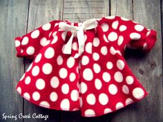 Winsome, Red Polka-dot, Fleece Baby Girl Jacket, Newborn