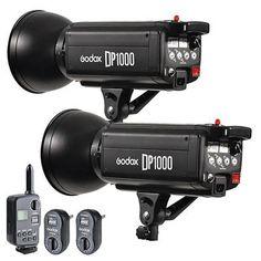 2PCS Godox DP1000 1000W Studio Strobe Flash Light  FT-16 Trigger Kit 200V240V
