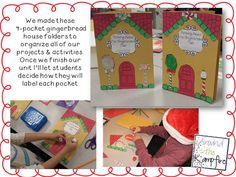 Gingerbread house folder craft.  Keeps your kids organized during your gingerbread unit!