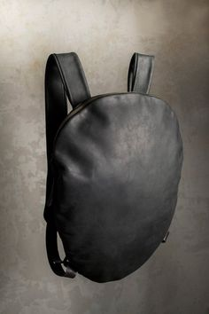 Leather backpack women backpack black leather by PARTEMshop