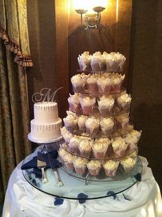 WEDDING CUPCAKE TOPPER - Monogram - wedding, Anniversary, Birthday - Shabby, Vintage, Carnival, Picnic, Woodland, Rustic on Etsy, $44.40 @ http://JuliesCafeBakery.com #cupcakes #recipe #cakes