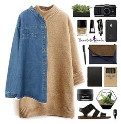 """""""BHalo 1"""" by novalikarida ❤ liked on Polyvore featuring MM6 Maison Margiela, Whistles, Lux-Art Silks, Koh Gen Do, Harley-Davidson, Jayson Home, Incase, Butter London, Muji and Aesop"""