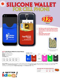 NEW & UNIQUE Promotional Items. Cell Phone Wallet. New Promotional Products to promote your event or organization. New & Unique Ideas for Advertising & Promotions. New Promotional items for giveaways! www.abetteridea.com 401-841-5646