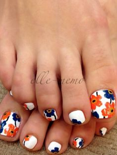 Cute toenail designs for spring and summer. #Beautiful toe nail designs Related