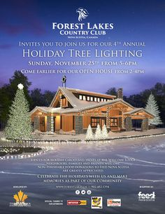 We're hosting our annual tree lighting event on November Spread the holiday cheer by bringing family and friends. Tree Lighting, Holiday Tree, Nova Scotia, Open House, Cheer, November, Events, Mansions, Country