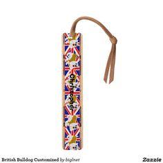 British Bulldog Customized Maple Bookmark
