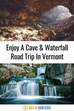 Nature lovers will want to take this road trip to Vermont's best and most beautiful caves and waterfalls. It's a perfect outdoor adventure. Places To Travel, Travel Destinations, Places To Visit, Haunted Places, Caves, Outdoor Travel, Waterfalls, Vermont, Road Trips