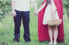 Red Riding Hood engagement on She Wears White from Nisha Ravji Photography