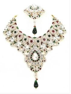 Checkout our #awesome product Bollywood Style Indian Imitation Necklace Set / AZBWBR070-GRG - Bollywood Style Indian Imitation Necklace Set / AZBWBR070-GRG - Price: $125.00. Buy now at http://www.arrascreations.com/bollywood-style-indian-imitation-necklace-set-azbwbr070-grg.html