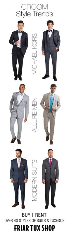Groom's Style Guide: 6 Wedding Suit and Tuxedo Ideas for your Groom and Groomsmen