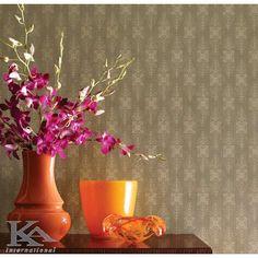 Antonina Vella by York Wallcoverings Planter Pots, Orange, Modern, Room, Painting, Design, Home Decor, Bedroom, Trendy Tree