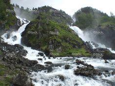 Latefoss waterfalls stock photo 58782490 - iStock - iStock ES