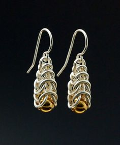 Graduated Box Earrings Chainmaille Tutorial PDF by UnkamenSupplies
