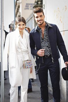 Larisa Costea &  Mariano Di Vaio after the Just Cavalli show at #mfw #mfw15 #mfwday2
